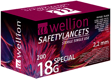 Lancety Wellion Safety Lancets special 18G - 200ks